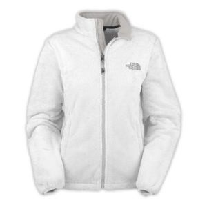 White fuzzy north face